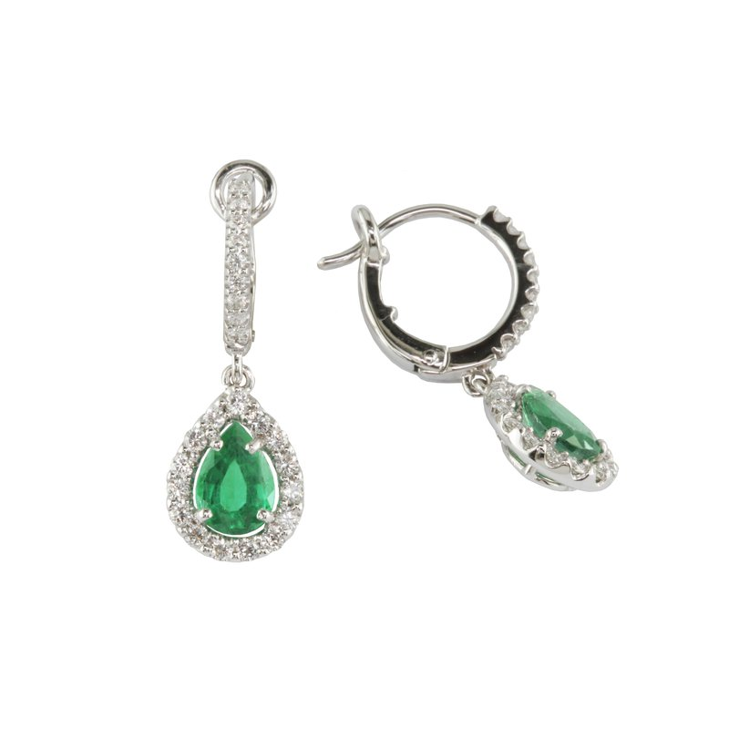 Eichhorn Emerald and Diamond Earrings