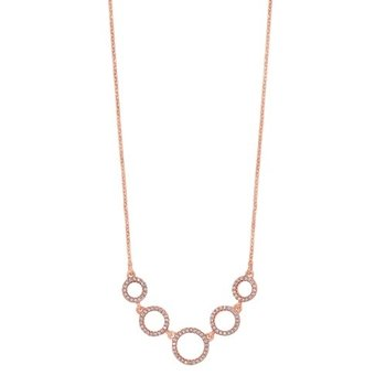 Diamond Graduated Eternity Circle Necklace in Sterling Silver