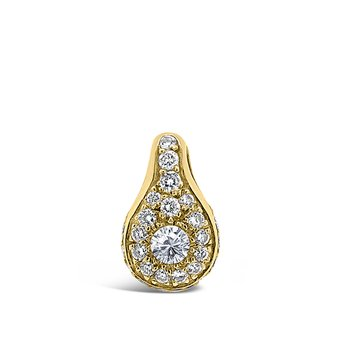 18K Yellow Gold Diamond Retro Vintage Pendant