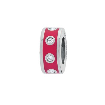 316L stainless steel, red enamel and Swarovski® Elements crystals