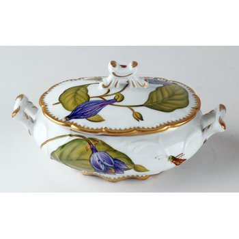 Individual Soup Tureen Purple Garland