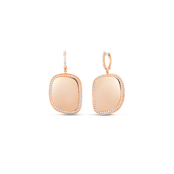 18KT GOLD DROP DIAMOND EARRINGS