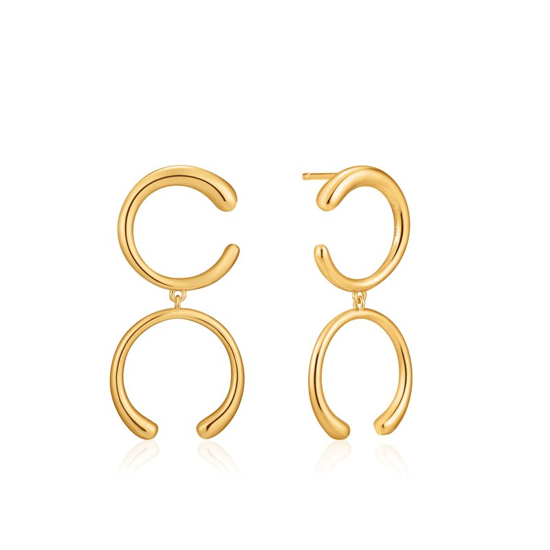 Ania Haie Luxe Double Curve Earrings