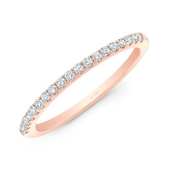 Rose Gold Pave Stackable Wedding Band