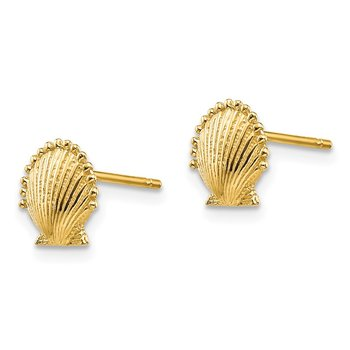 14k Scallop Shell Post Earrings