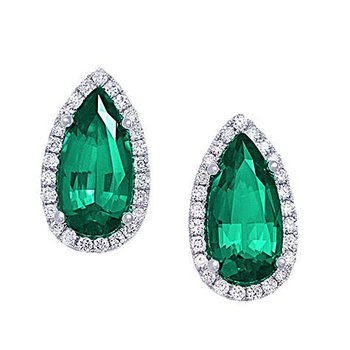 Emerald Earrings-CE3832WEM