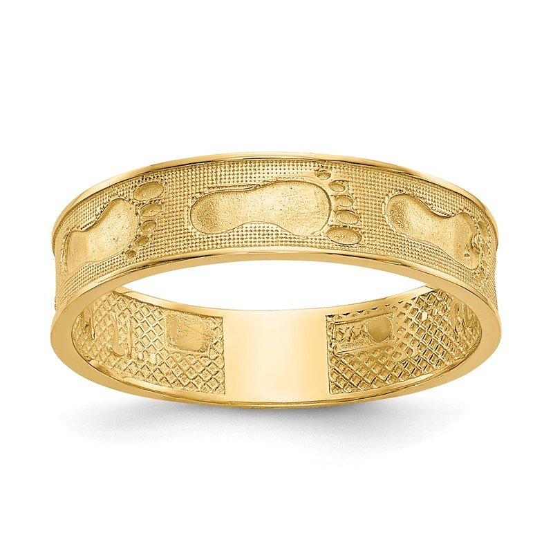 Quality Gold 14K Footprints In The Sand Ring