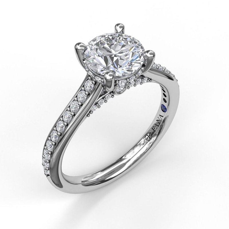 Fana Single Row Detailed Engagement Ring