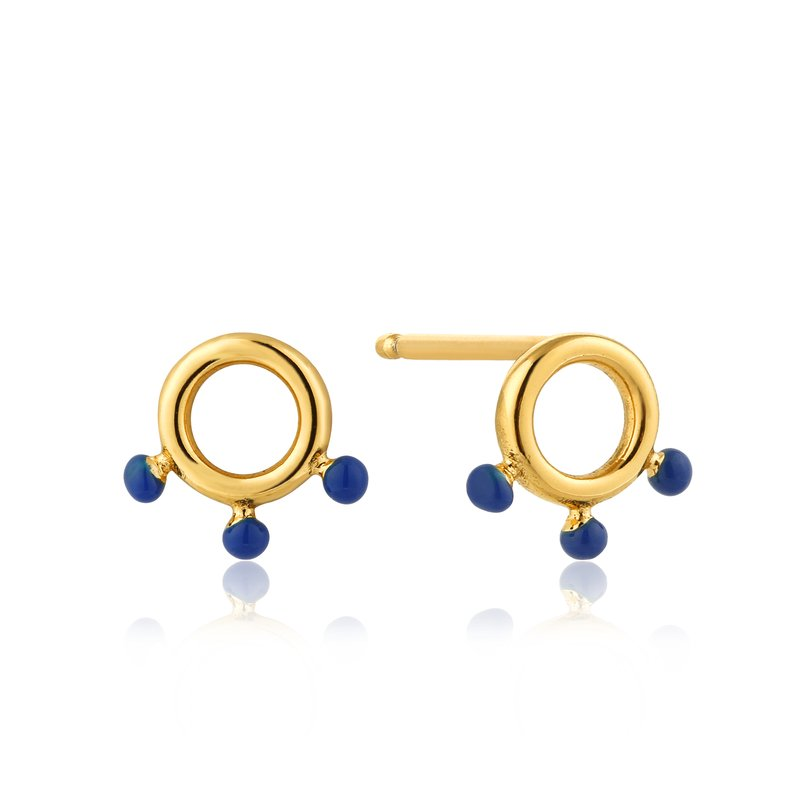 Ania Haie Dotted Circle Stud Earrings