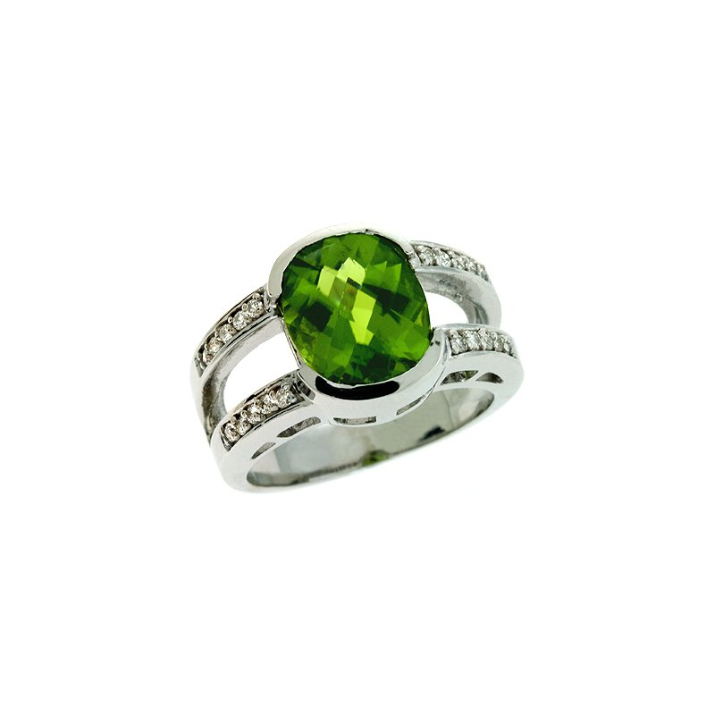 Briana Peridot & Diamond Ring