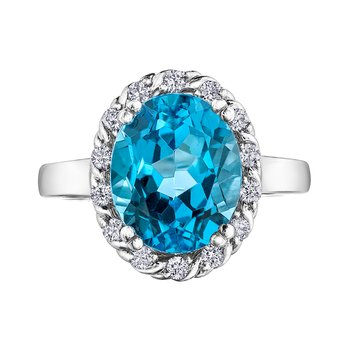 Blue Topaz Ladies Ring