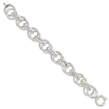 Sterling Silver Polished Fancy Link 8.5 inch Bracelet