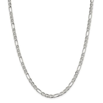 Sterling Silver 4.5mm Figaro Anchor Chain