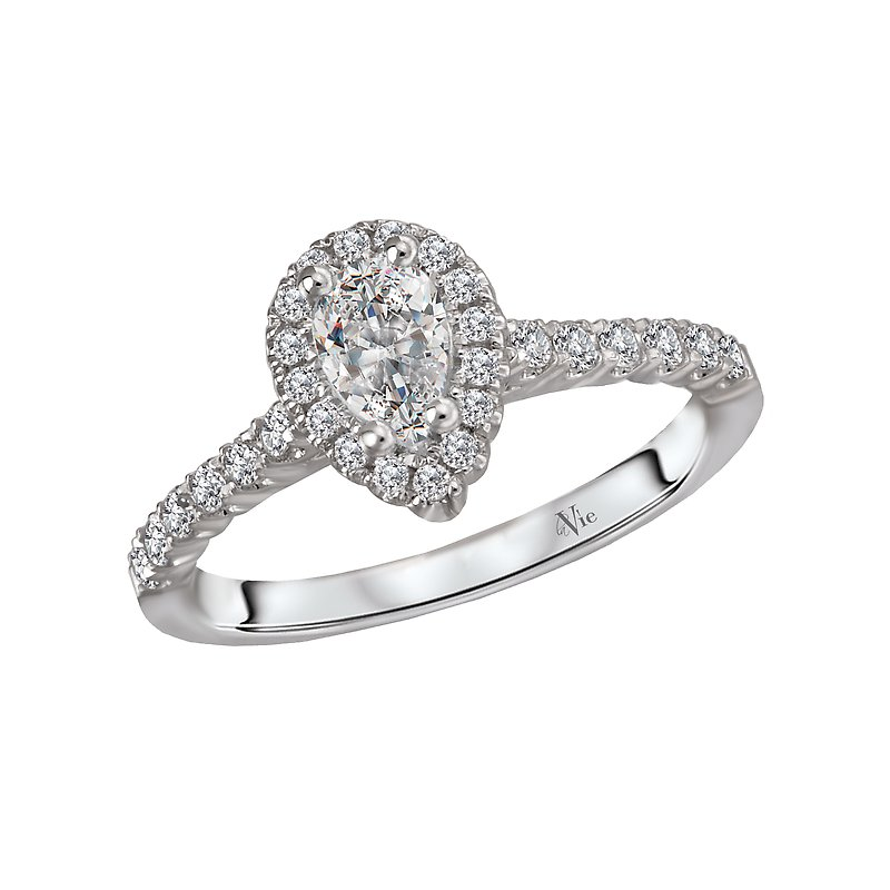 LaVie Halo Semi Mount Diamond Ring