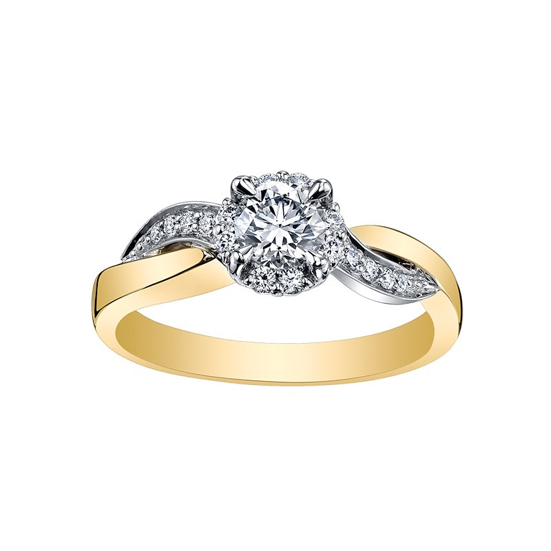 Maple Leaf Diamonds Maple Leaf Diamond Eternal Flames Ladies Engagement Ring