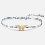 Swarovski Fit Wonder Woman Bracelet, Gold tone, Mixed metal finish