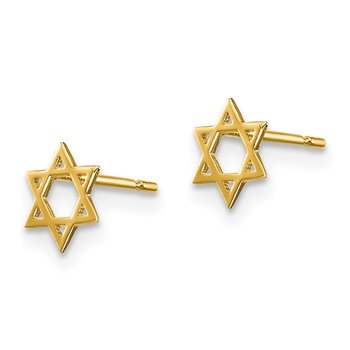 14k Madi K Children's Star of David Post Earrings