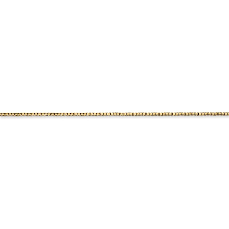Quality Gold 14k .9mm Box with Lobster Clasp Chain