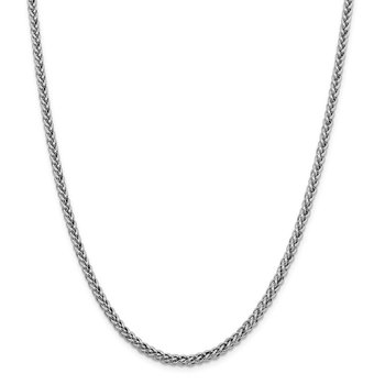 14k WG 4.3mm Semi-solid 3-Wire Wheat Chain