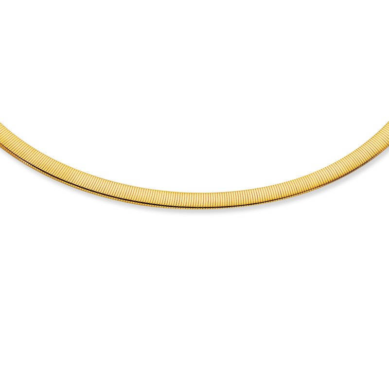 Royal Chain 14K Gold 6mm Reversible Omega