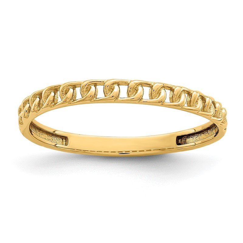 Quality Gold 14K Link Design Ring