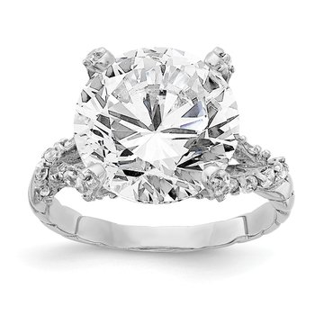 Cheryl M Sterling Silver Fancy CZ Ring