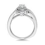 Valina Halo Engagement Ring Mounting in 14K White Gold (.36 ct. tw.)