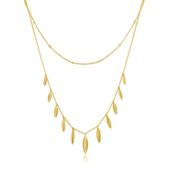 Leaf Double Necklace
