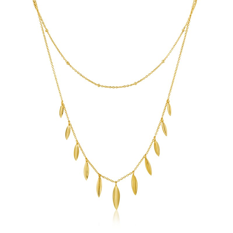 Ania Haie Leaf Double Necklace