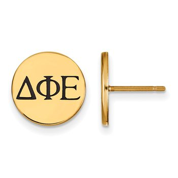 Gold-Plated Sterling Silver Delta Phi Epsilon Greek Life Earrings