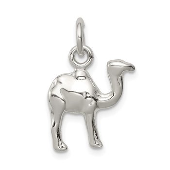 Sterling Silver Polished Mini 3-D Camel Reversible Pendant