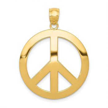 14k Peace Sign Pendant