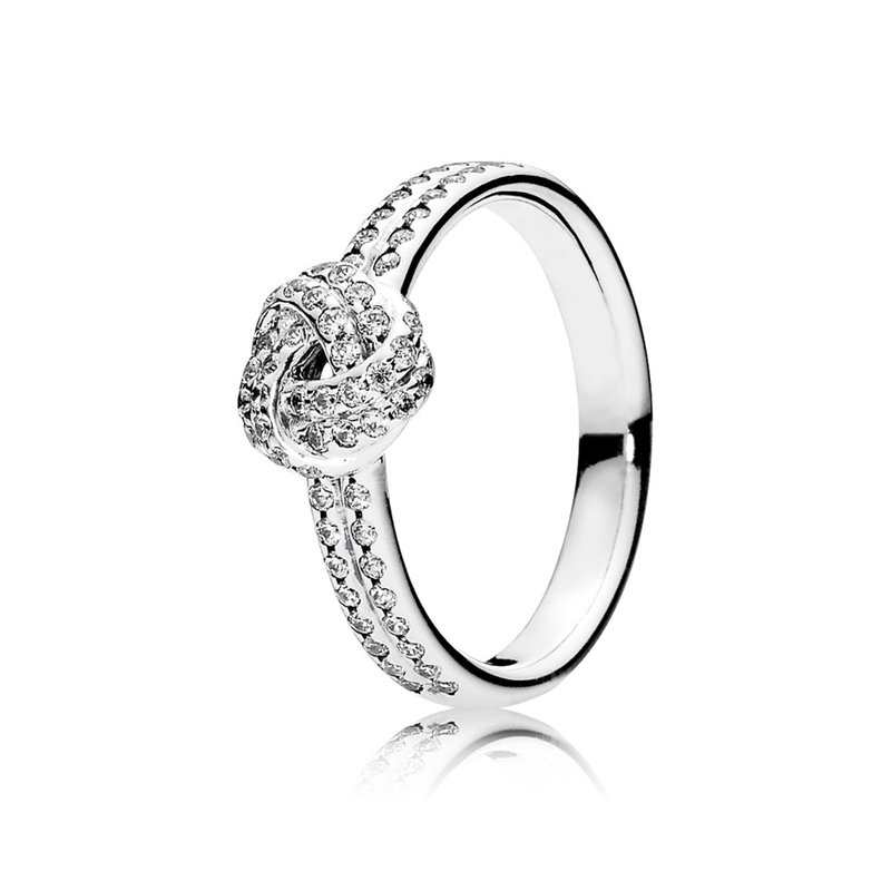 PANDORA Sparkling Love Knot Ring, Clear CZ