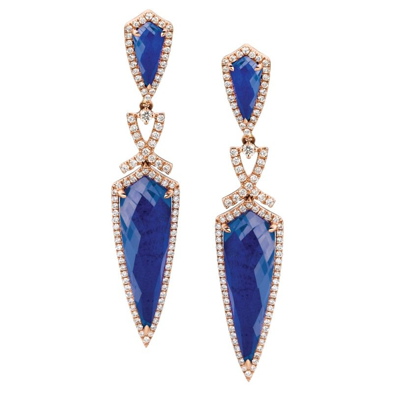 Doves Royal Lapis Fashion Earrings