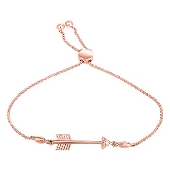 Diamond Arrow Bolo Bracelet