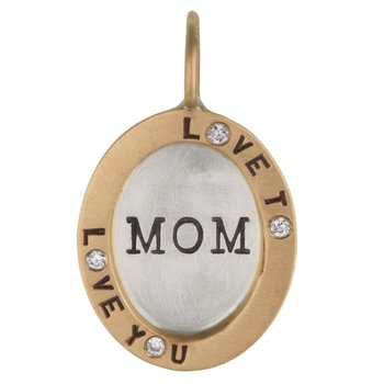 Love to Love You Mom Oval Charm