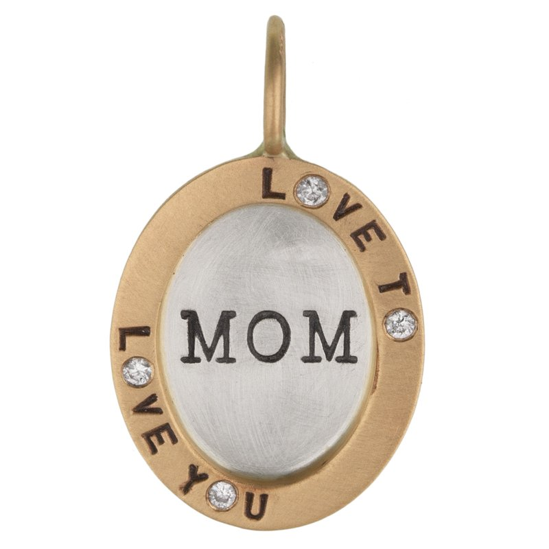 Heather B. Moore Love to Love You Mom Oval Charm