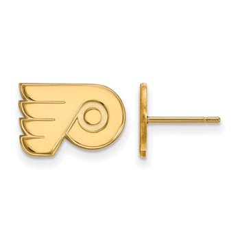 Gold-Plated Sterling Silver Philadelphia Flyers NHL Earrings