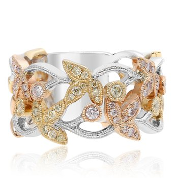 Mixed Metal Diamond Fashion Ring