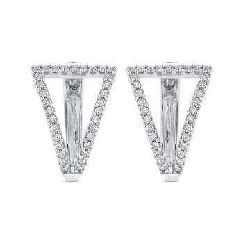 10K White Gold 3/8 Ct Diamond Fashion Earrings
