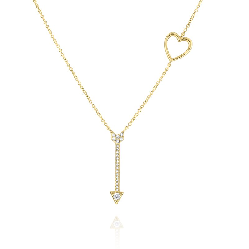 KC Designs Diamond Heart & Arrow Necklace Set in 14 Kt. Gold