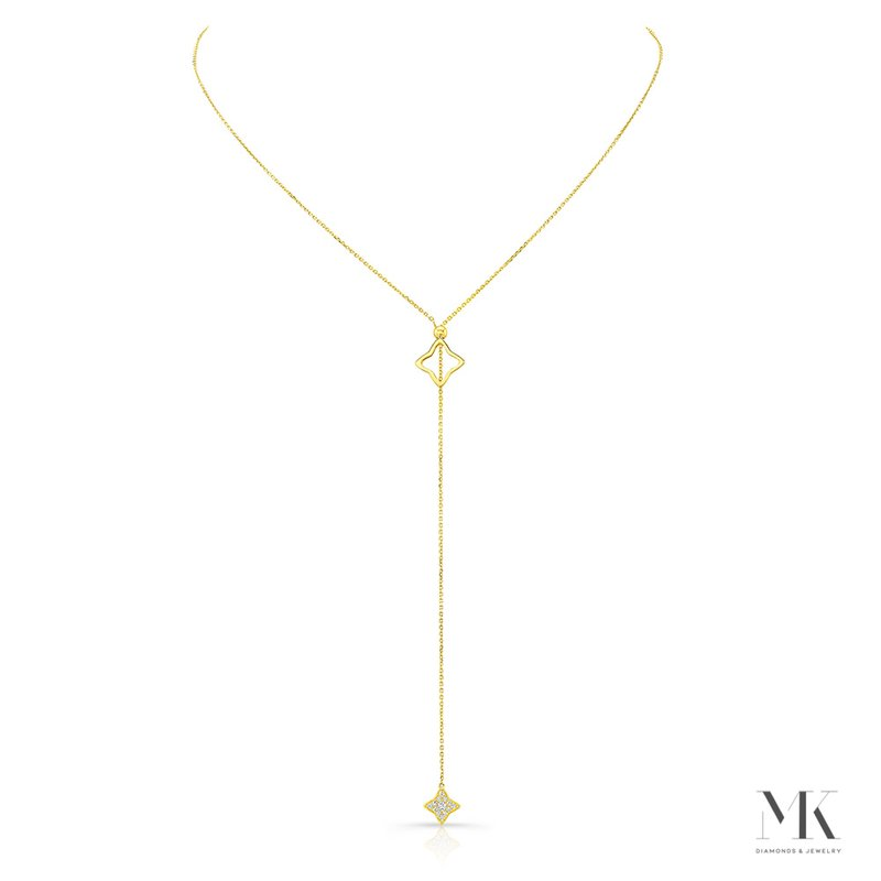 Robert Palma Designs Yellow Gold Convertible Starburst Lariat