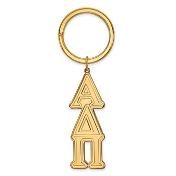 Gold-Plated Sterling Silver Alpha Delta Pi Greek Life Key Chain
