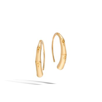 Bamboo Small Hoop Earring in 18K Gold