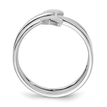 Sterling Silver Rhodium-plated Arrow Wrap Toe Ring