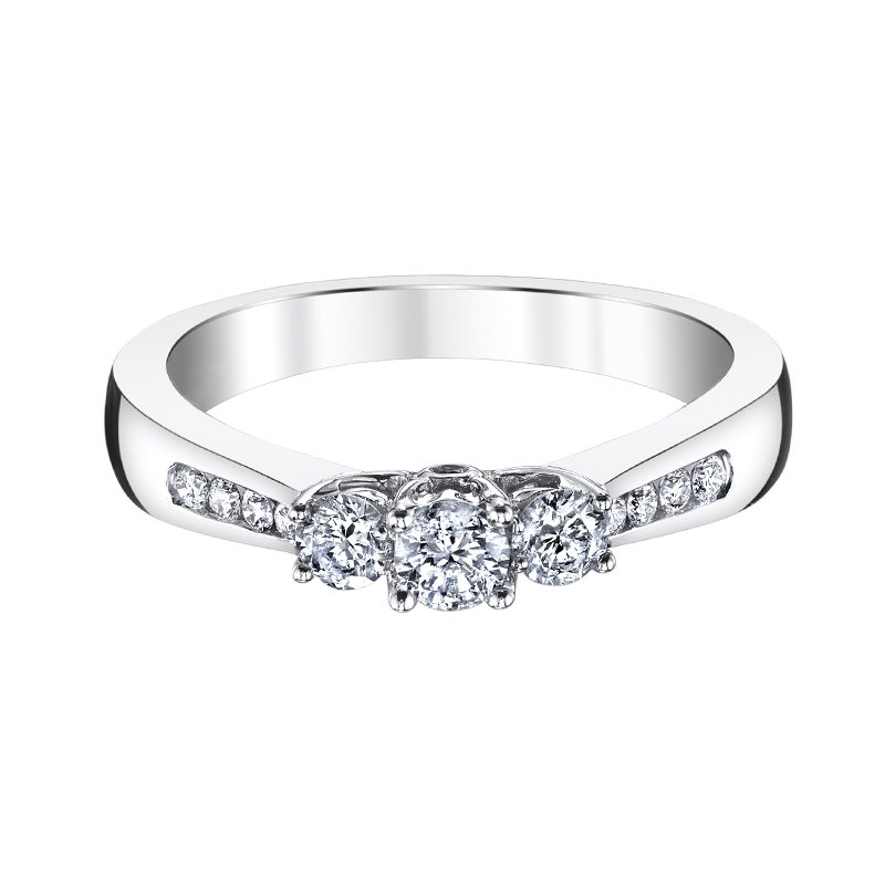 Two Hearts Engagement Ring