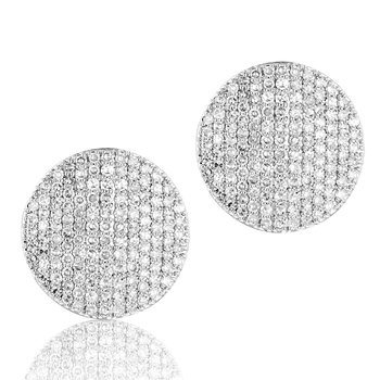 White gold diamond large Infinity stud earrings