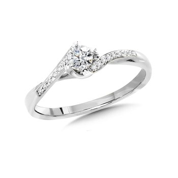 Round Diamond Bypass Engagement Ring
