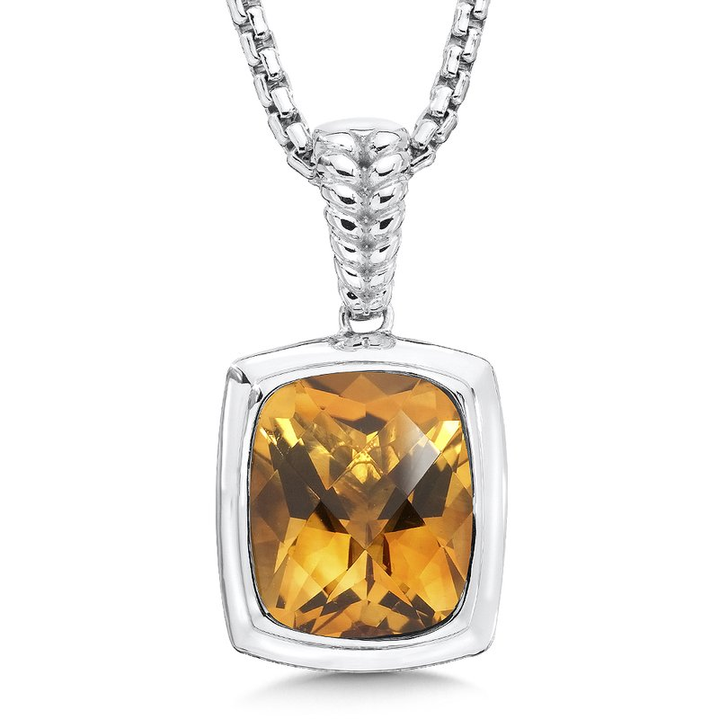 Colore Sg Sterling Silver Citrine Essentials Pendant