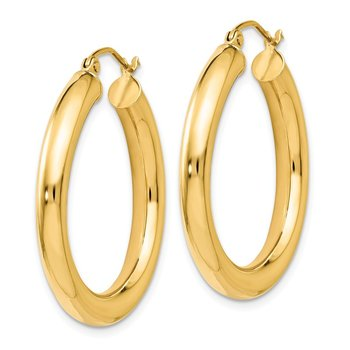 Leslie's 14K Polished Lightweight Hoop Earrings